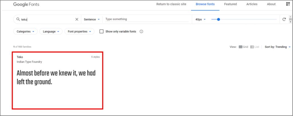 google fontのサイトから好きなフォントを選ぼう!②
