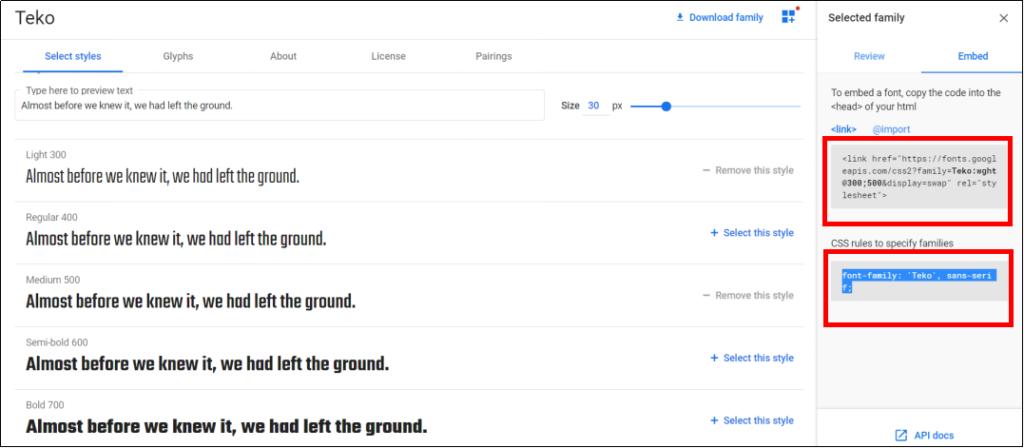 google fontのサイトから好きなフォントを選ぼう!④