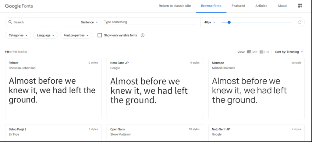 google fontのサイトから好きなフォントを選ぼう①