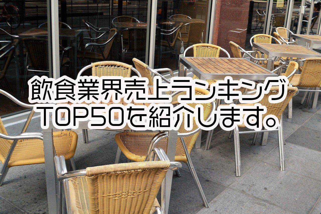 飲食業界売上ランキングTOP50
